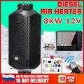 Calentador de coche 12 V/24 V 8kW para Webasto aire calentador diesel 8KW para camiones Motor casas barcos autobús LCD Monitor interruptor + Control remoto|Calefacción y ventiladores| |  -