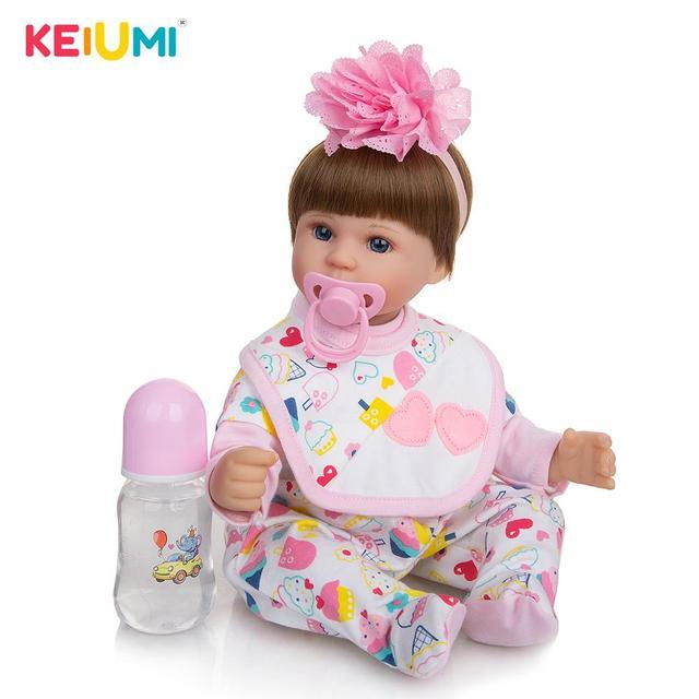 Фото keiumi реалистичные детские куклы reborn 17 ''42 см
