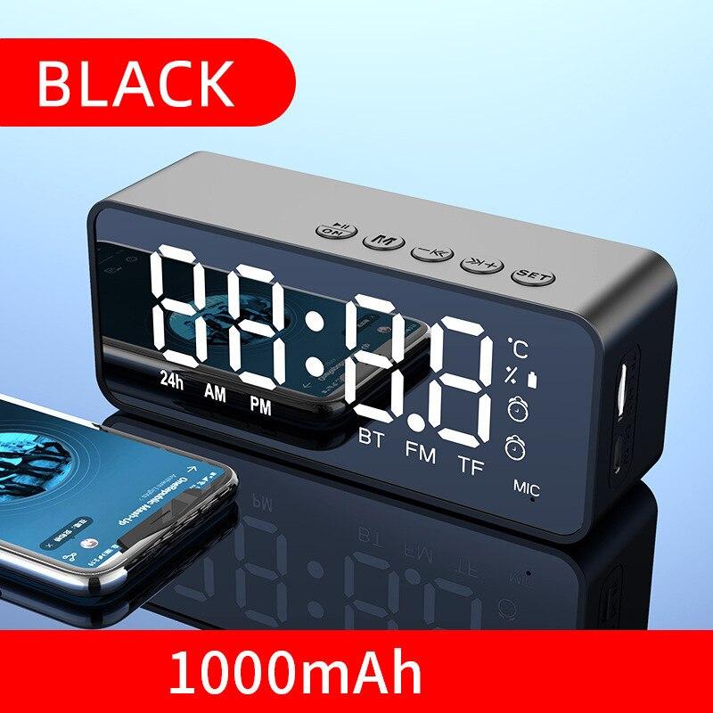 Wireless Bluetooth Speaker Small Mini Alarm Clock Portable Cannon Mini Voice Broadcast the Card Instert Vehicular Audio System