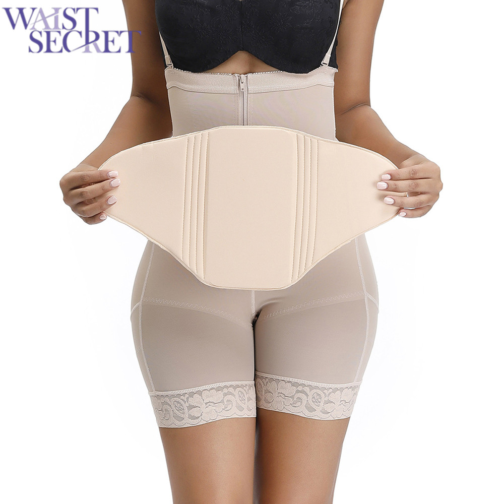 WAIST SECRET Women Body Shaper Beige Postpartum Recovery Compression Abdominal Board Flattering Faja Ab Board After Liposiction