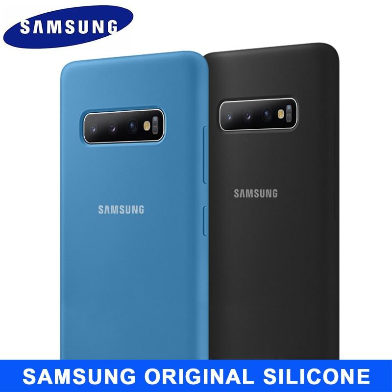 SAMSUNG S10 Fall Original Silikon Made in Vietnam version Samsung Galaxy S8 S9 S10 Plus Hinweis 8 9 10 10 + S10 5G S10e Fall Abdeckung