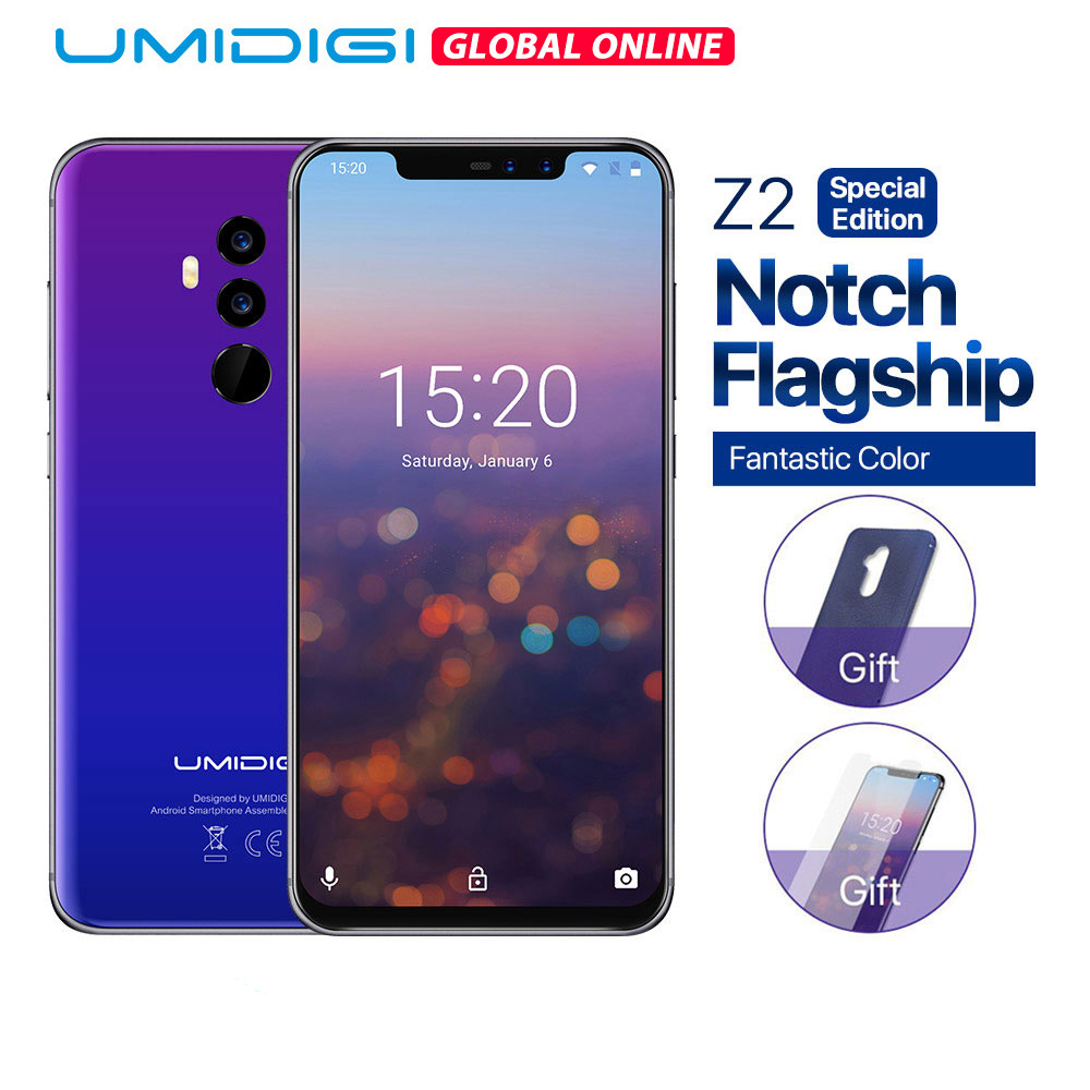UMIDIGI 64GB Pump Express3.0 Octa Core Face Recognition 16mp Refurbished Telephone Face-Unlock