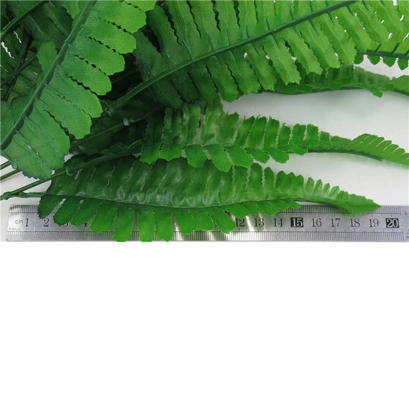 7 вилок Искусственный Зеленый папоротник трава маленькие персидские листья растения поддельные листья настенный пластиковый домашний сад бонсай украшение
