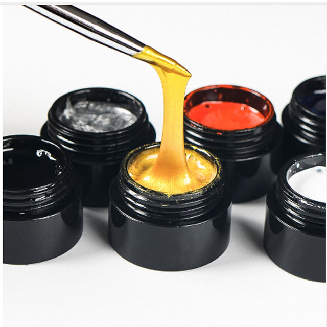 1 Box Spider UV Gel Polish Elastic Drawing Gel Purple Yellow Off White Mixed Colors Soak Off Nail Art Gel Varnish 5