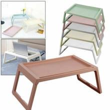 Moderno mesa dobrável com sulco plástico estudo adulto notebook portátil suporte para sofá cama mesa de acampamento mobiliário escritório