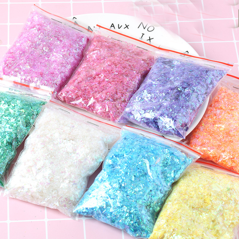 Irregular Shell Paper Sequin DIY Nail Flakies Colorful Paillette Glitter Nail Art Sequins for 3D Nail Art Decoration,10g/lot(China)