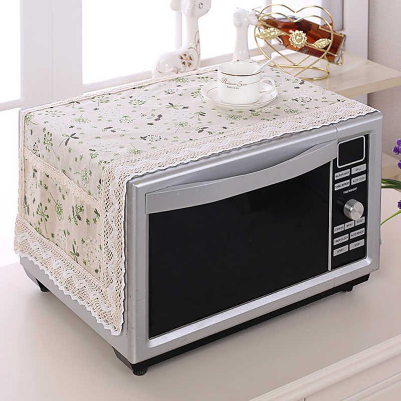 1PCฝาครอบไมโครเวฟเตาอบไมโครเวฟHood Oilฝุ่นพร้อมกระเป๋าอุปกรณ์เสริมห้องครัวตกแต่งบ้าน