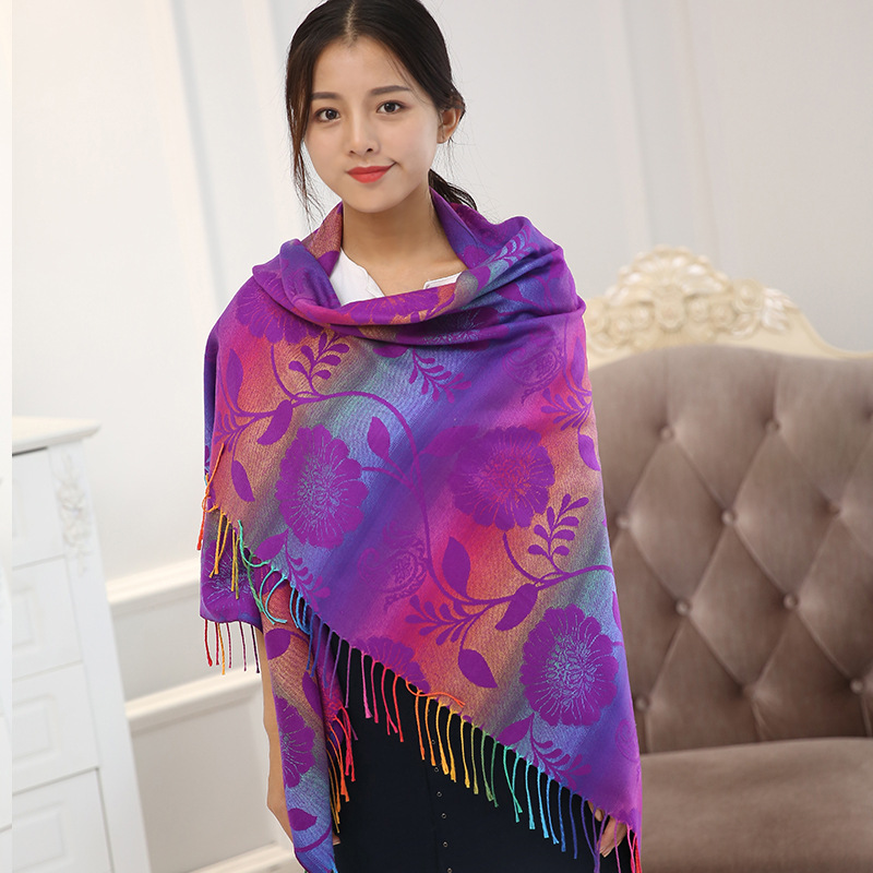 Women Double-sided Oversized Napped Square Warm Scarf  Autumn And Winter Thick Shawl Cloak Shawl New Scarf