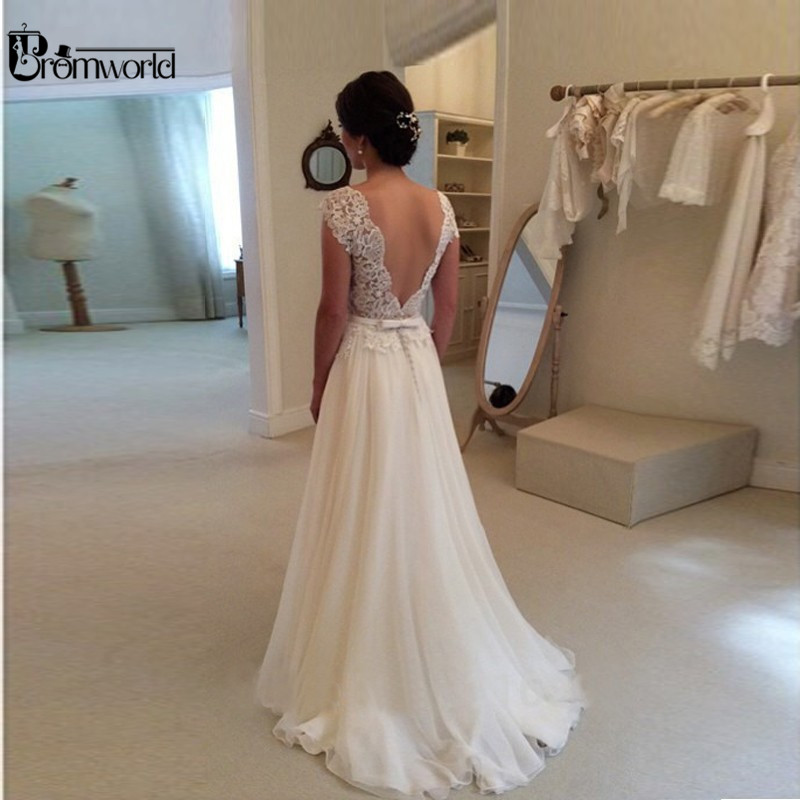 Hot Sell Lace Wedding Dresses With Beading Belt
