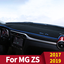 Car Dashboard Cover Mats Avoid Light Pad Instrument Platform Desk Carpets for MG ZS  2019 Accessories