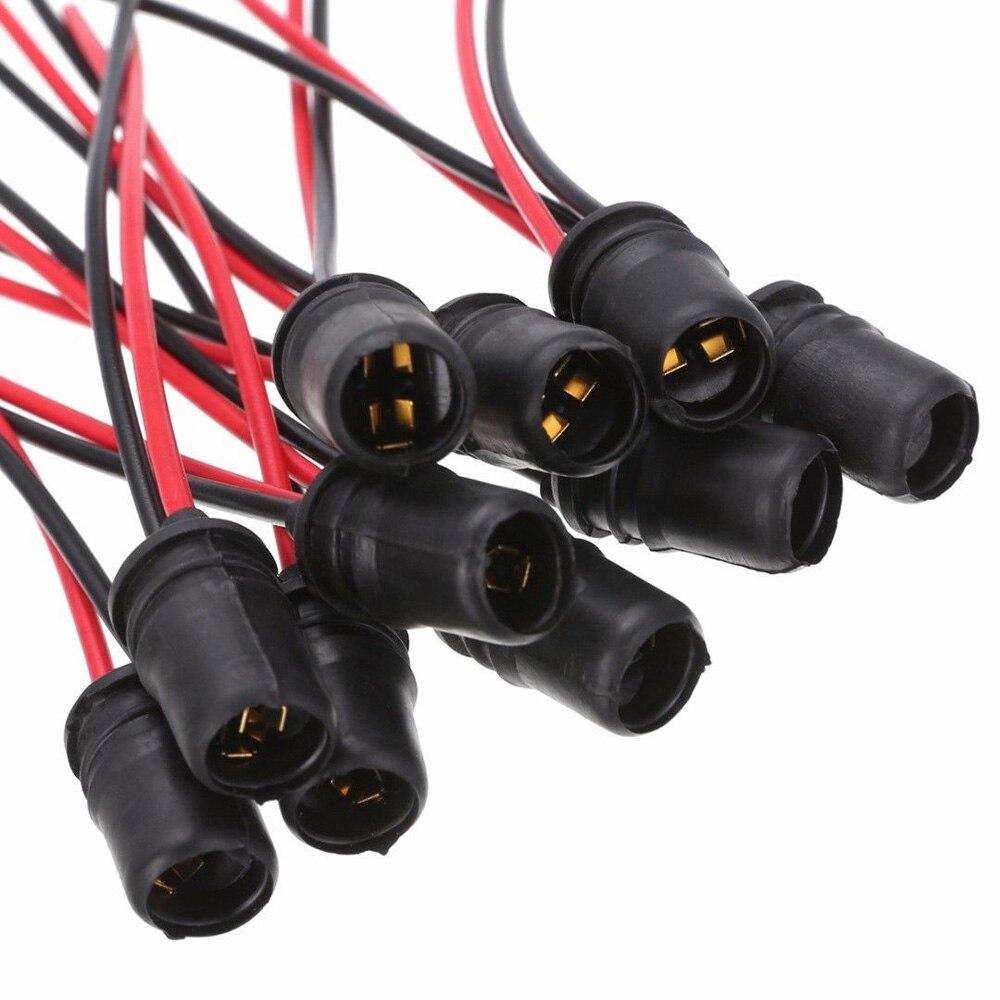 Hot! 10X T10 W5W 501 505 507 Capless Wedge Bulb Holder Socket Fitting 6V 12V 24V