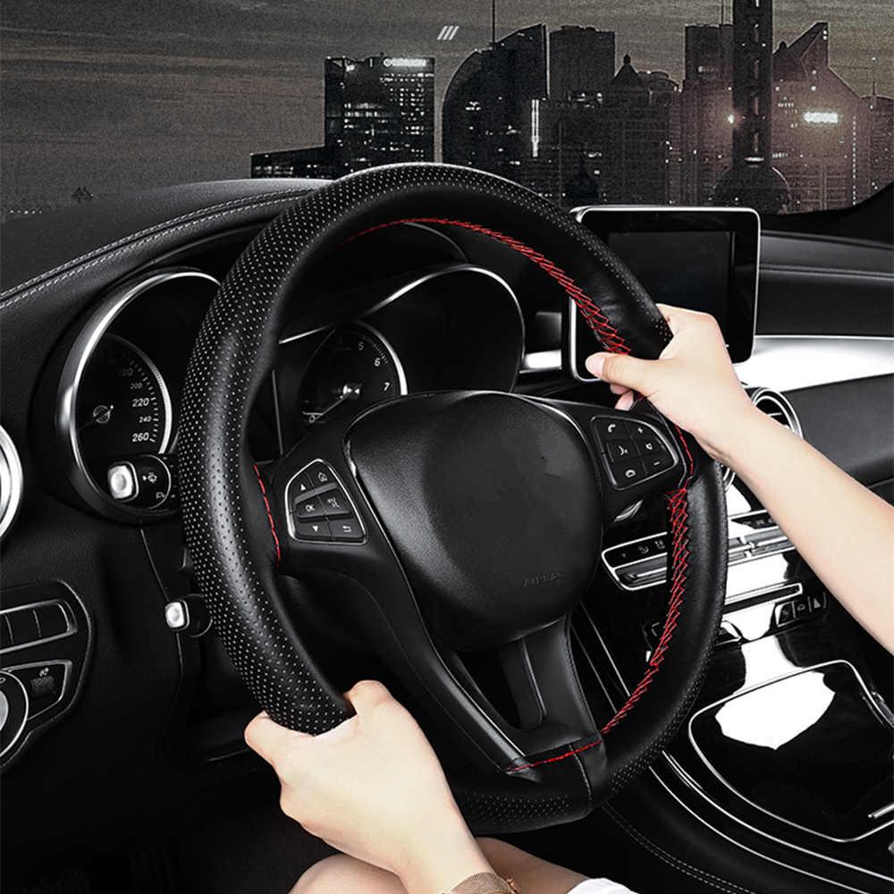 38 Cm Lederen Auto Stuurhoes Voor Honda Civic Accord Crv Fit Jazz Stad Cr-V Spoiler element Insight Accessoire