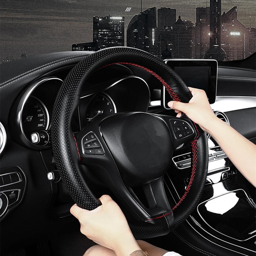 38CM Leather Car Steering Wheel Cover Universal For Mazda 3 6 CX-5 323 5 CX5 2 626 Spoilers MX5 CX 5 GH CX-7 GG CX3 CX7 MPV RX8 Pakistan