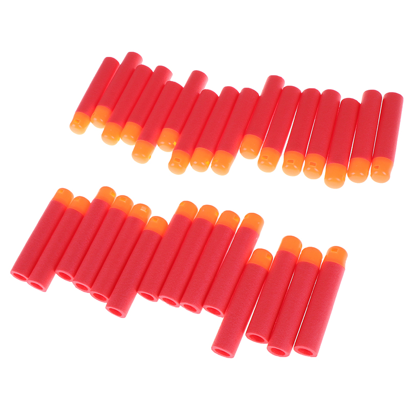New 30Pcs/Lot 9.5cm Foam Refill Darts Big Hole Head Bullets Christmas Gift Red Sniper Rifle Darts Bullets Kids Toy