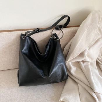 Patchwork PU Leather Bucket Bags for Women 2019 Summer Crossbody Lady Shoulder Messenger Bag Female Travel Handbags