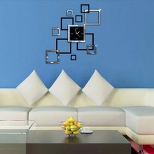Acrylic Mirror Wall Clock Study Wall Sticker Creative Diy Personality Wall Clock  Room Decoration Home Decoration Accessories цена в Москве и Питере