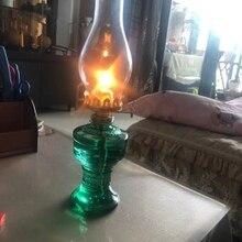 H33cm Nostalgia clásica lámpara de queroseno farol Decoración Accesorios aceite luces Vintage lámpara de noche