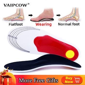 VAIPCOW Premium Orthotic Gel wysokie wkładki do butów wspierające łuk stopy podkładka żelowa 3D Arch wsparcie płaskostopie kobiety mężczyźni ortopedyczne ból stóp Unisex tanie i dobre opinie CN (pochodzenie) 1 cm-3 cm Średnie (b m) New orthopedic Insole Mesh Stałe Anti-śliskie Wytrzymałe Pot-chłonnym Szok-chłonnym