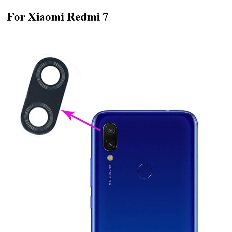 1PCS High Quality For Xiaomi Redmi 7 Back Rear Camera Glass Lens Test Good For Xiao Mi Hongmi 7 Mi7 Replacement Parts