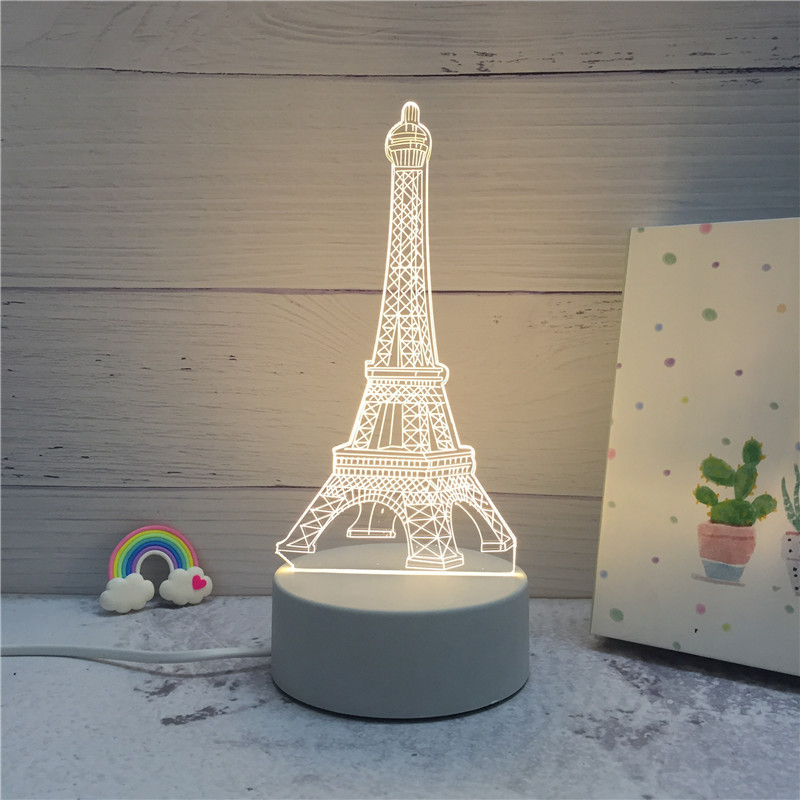 2019 Newest Arrival 3D LED Lamp Energy Saving Cartoon Christmas Home Decoration Control Switch Night Light Children's Gift