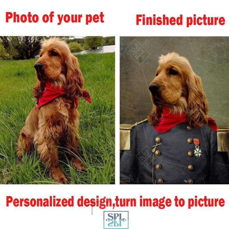 Постеры для домашних животных на заказ, постеры с животными на холсте, персонализированные картины для домашних животных на заказ, винтажны...