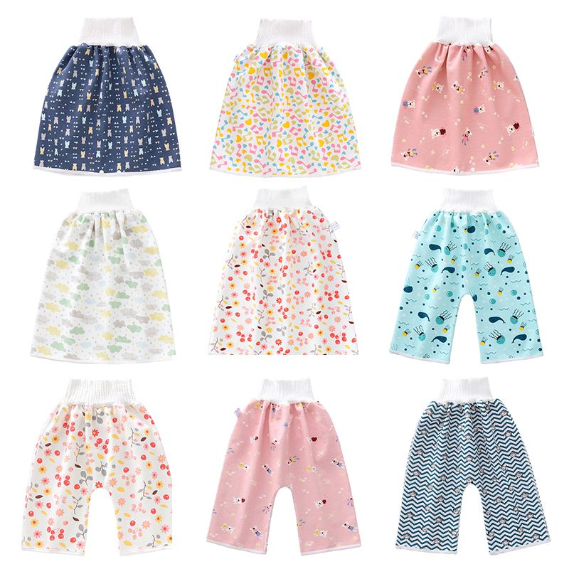Baby Diaper Skirt Waterproof High Waist Leak Proof  Baby Diapers Training Pant Baby Child  Cotton Washable Diaper Pocket|Cloth Diaper|   - AliExpress