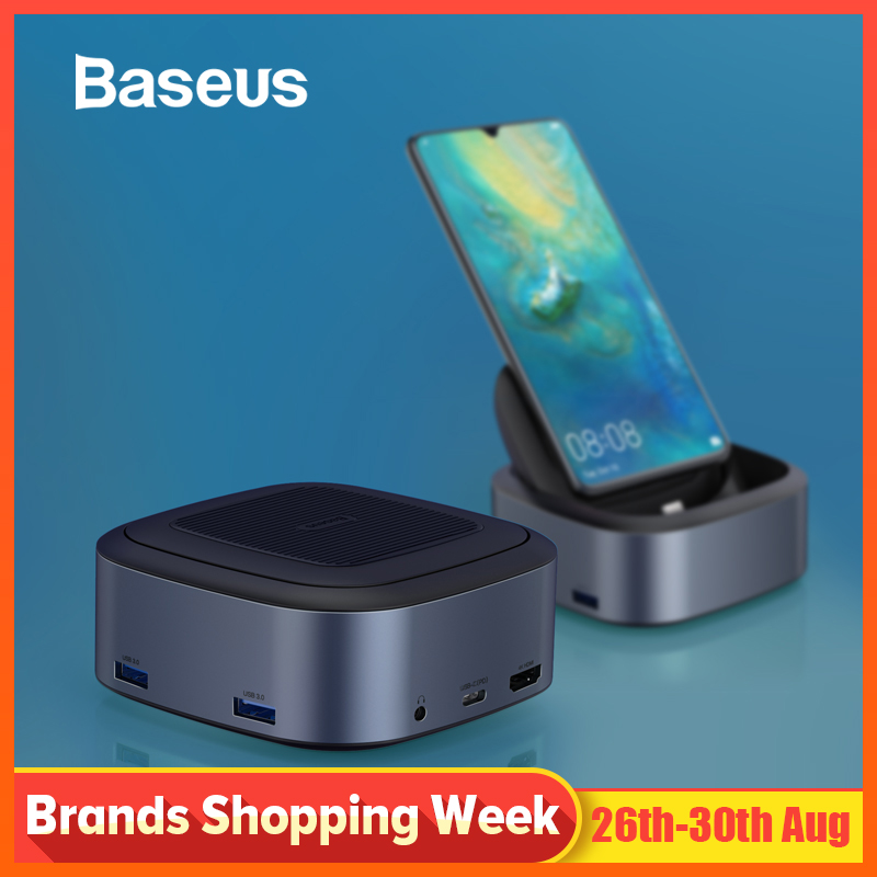 Baseus Usb-Hub Docking-Station Huawei HDMI Type-C Samsung To For P20 P30 Pro Samsung/S10/Docking-station/..