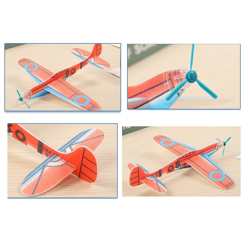 12 pièces/lot enfant bricolage main jeter volant planeur avion jouet EPP mousse avion ultraléger avion modèle jouet enfant en plein air jouet jeu 2