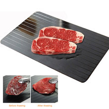 S/M/L Fast Defrost Tray Fast Thaw Frozen Meat Fish Sea Food Quick Defrosting Plate Board Tray Thawing Tray Kitchen Gadget Tool fast defrosting tray thaw frozen food meat fruit quick defrosting plate board defrost kitchen gadget tool