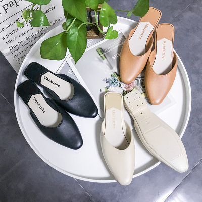 2020 PVC Jelly Shoes Fashion Women Rain Shoes Mules Slippers Black Flats Shoes Slip On Mocassins Zapatos Mujer P549