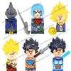 KF6042 Anime Super Saiyan Goku Dragon Ball Z Building Blocks Mini cartoon Action toy Figures Bricks Assemble toys For kids Gifts