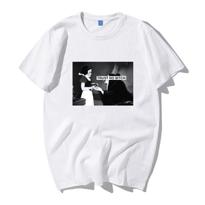 tshirts Harajuku Fashion Korean Women's tee Casual thrasher vegan Snow White Print female vintage t shirt Loose Hip Hop weed Top(China)