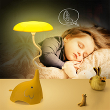 3-shift Dimming Touch Sensor Night Lights Led Kid Baby Lamp Children Bedroom Lamparas Cartoon Elephant Charged Battery Luminaria