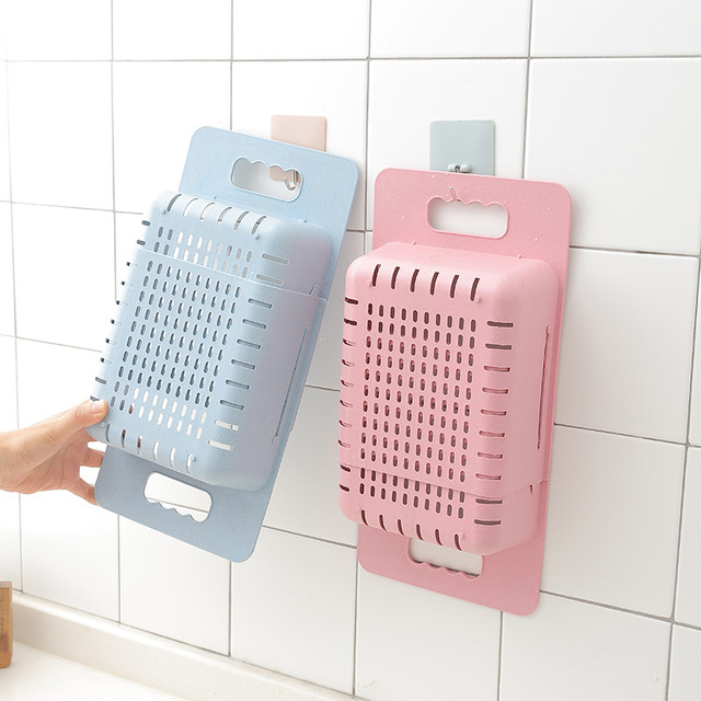 Adjustable Dish Drainer Sink Drain Basket Washing Vegetable Fruit Plastic Drying Rack Kitchen Accessories Organizer H1235 5