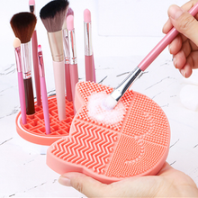 2in1 Cat Shaped Silicone Makeup Brushs Collection Box Storage Suitable For Cleaning And Storage Multi-Functional Cleaning Brush