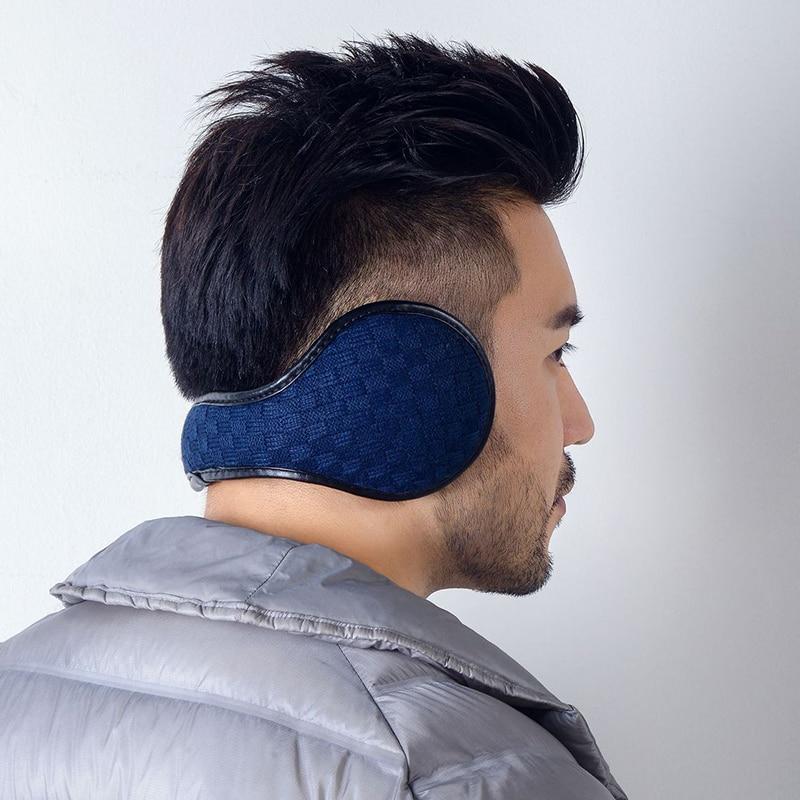Warm Earmuff Men Women Kitted Ear Muffs Plush Adjustable Winter Headband For Sport Cycling Riding TC21