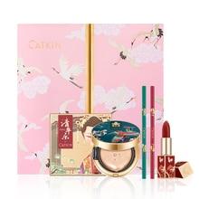 Makeup Set Chinese Style Gift Box Velvet Carved Lipstick Concealer Air Cushion Eyeshadow Palette Eyeliner Cosmetics make up kit