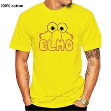 2020 camisa de algodão de algodão de manga curta sésamo rua elmo letras de homem regular ajuste t-shirtwomen t camisa
