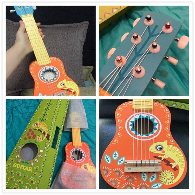 MiDeer Guitarra madera niños música Guitarra Ukelele Basswood 6 cuerdas Guitarra Musical educativo concierto instrumento juguete niños regalo - 6