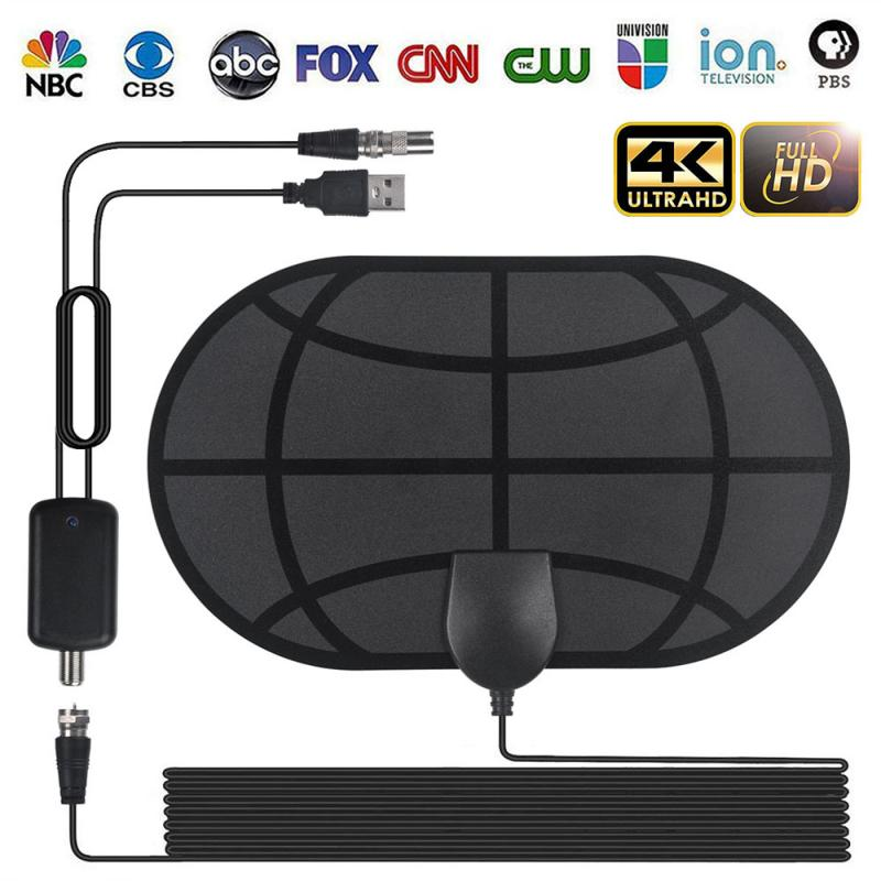 2020 New 980 Mile Range Antenna 4K Digital HDTV Indoor TV Antennas With Amplifier Signal Booster Active Indoor HD TV Radius Surf
