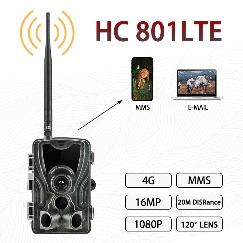 HC-801LTE Охота Камера 4g Trail Камера s16MP 1080P фото ловушка 0,3 s триггер живая природа инфракрасный Камера Chasse Скаут; Прямая поставка