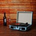 Винтажный 3-скоростной классический фонограф граммофон Проигрыватель музыкальный проигрыватель с стереодинамиками стандартная деревянна...