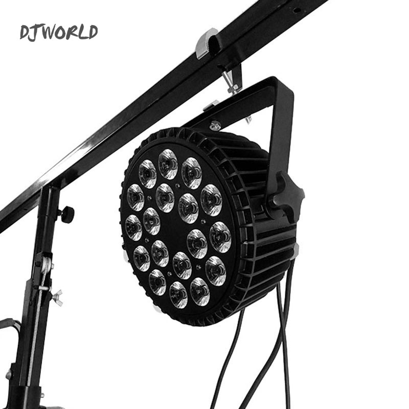 Djworld High Quality Aluminum Alloy LED Flat Par 18x18W 6in1 DJ Par DMX 512 Light For Dj  Disco Ball  Party Light Shows Dance