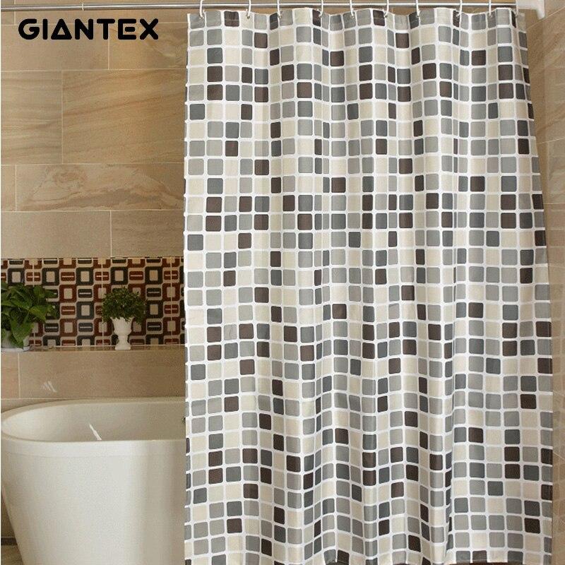 GIANTEX ลายสก๊อตผ้าม่านห้องน้ำกันน้ำผ้าม่านอาบน้ำสำหรับห้องน้ำ Cortina Ducha Rideau De Douche Douchegordijn U1269