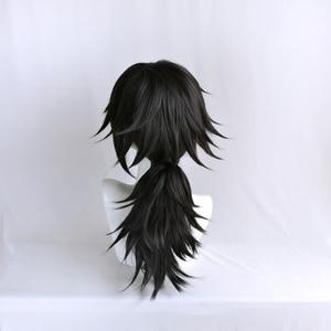 Image 5 - Perruque Kimetsu no Yaiba Tomioka Giyuu, démon Slayer, queue de cheval noire, postiche synthétique résistante à la chaleur pour hommes et femmes
