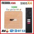 Mecool KM6 Deluxe ATV Android 10 Amlogic S905X4 Android TV 10,0 Google Сертифицированный двойной WiFi 6 1000M 4 Гб 64 Гб медиаплеер 2G16G