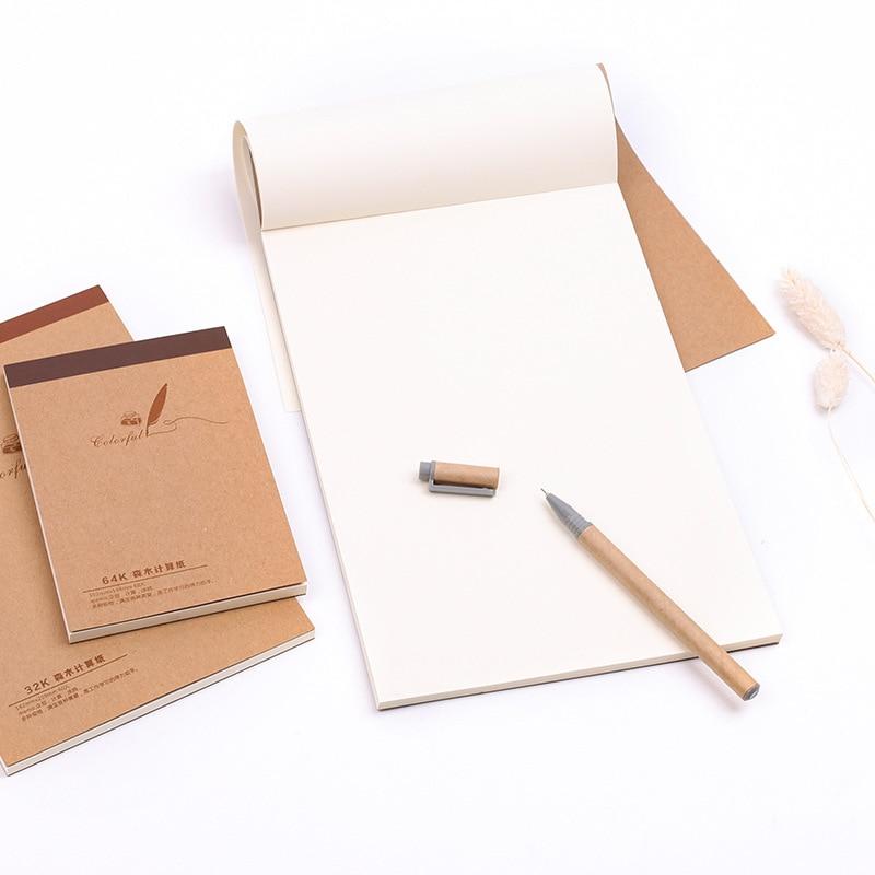60pcs 18k/32k/64k Sketchbook Paintig Paper Diary Drawing Graffiti Record Paper Notebook Memo Pad Write School Office Stationery