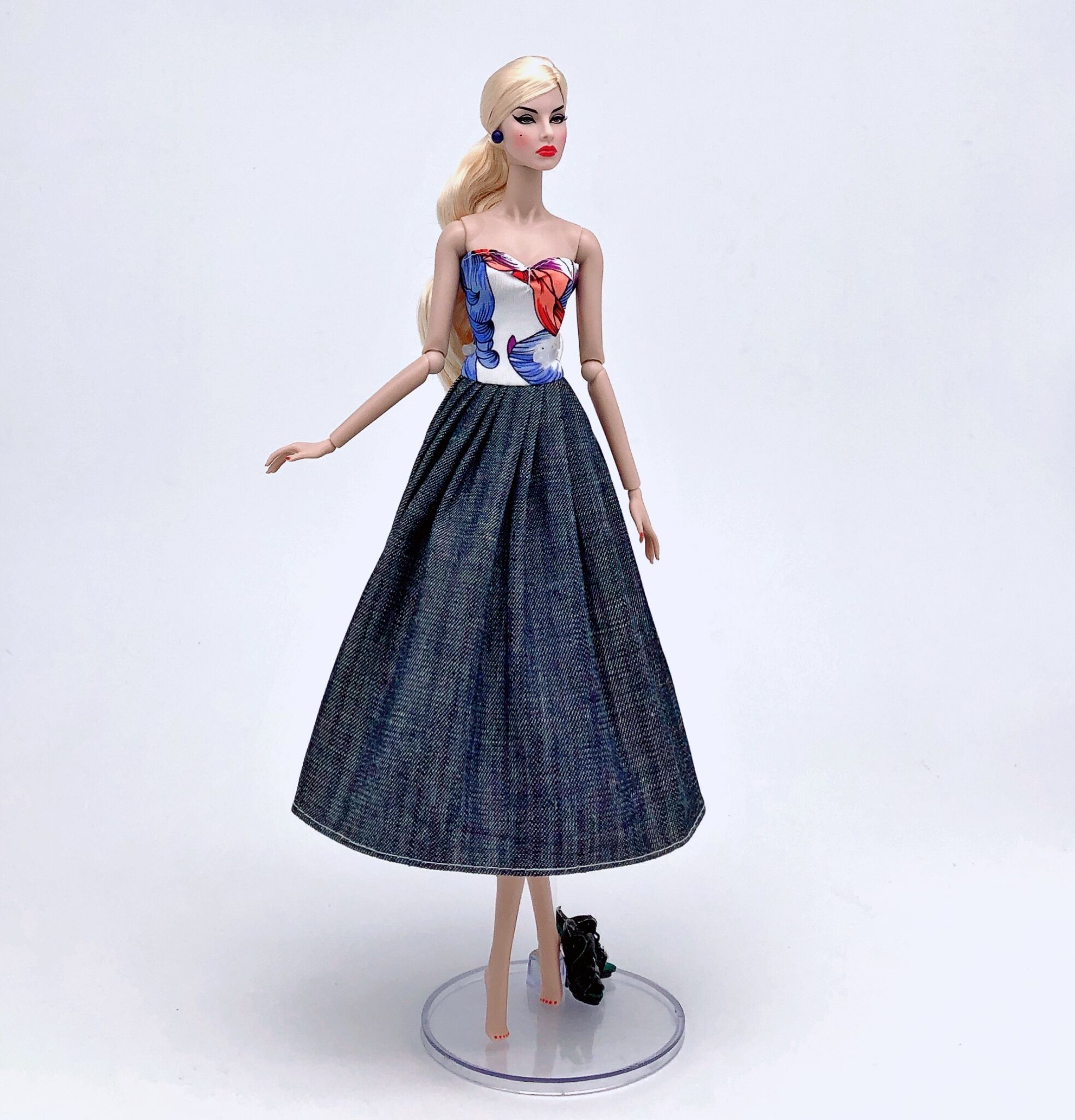 Casual Party Denim Wedding Dress Clothes For Barbie 1/6 Original Bjd Doll Accessories Costume Dressing Up House Child Toys Gift