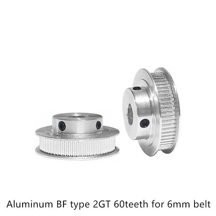 60 Teeth GT2 Timing Pulley Bore 5mm 6.35mm 8mm 10mm 12mm 14mm For Belt Width 6mm Used In Linear 2GT Pulley 60Teeth 60T