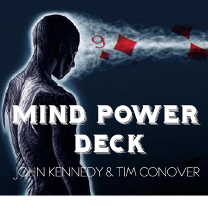 Esprit puissance Deck tours de magie lire l'esprit Magia magicien gros plan scène Illusions Gimmick accessoires mentalisme